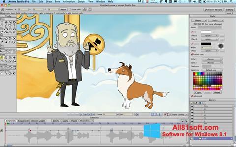Ekran görüntüsü Anime Studio Windows 8.1
