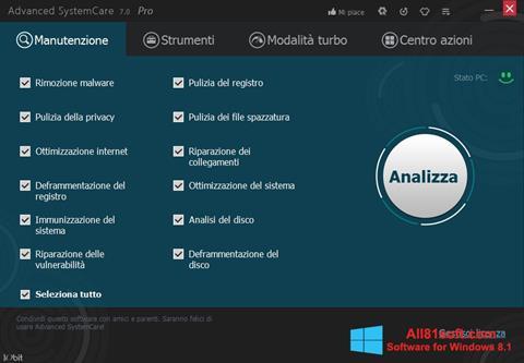 Ekran görüntüsü Advanced SystemCare Pro Windows 8.1