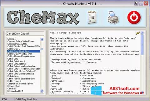 Ekran görüntüsü CheMax Windows 8.1