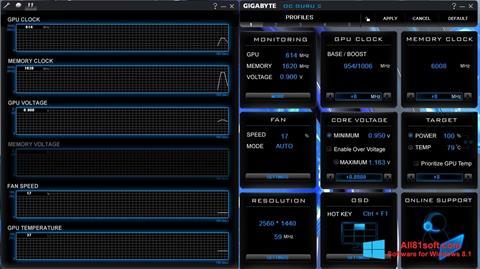 Ekran görüntüsü GIGABYTE OC Guru Windows 8.1