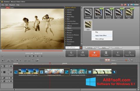 Ekran görüntüsü Movavi Video Editor Windows 8.1